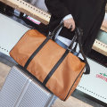Travel bag oxford nothing Other / other Brown Black large yes leisure time Single root European and American fashion other polyester fiber Hard handle Solid color youth Zipper pocket, mobile phone bag, certificate bag female Width-49 height-28 thickness-22.5-16cm