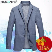 man 's suit Business gentleman Light blue Kerry Martin / Kerry Martin thin 175/L KXF09023 Flax 58.2% rayon 41.8% Autumn of 2018 Pure e-commerce (online only) Polyester viscose