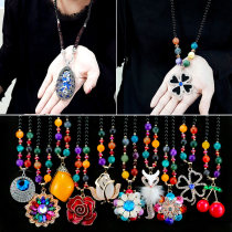 Necklace other RMB 1.00-9.99 Other / other brand new Japan and South Korea female goods in stock yes Fresh out of the oven 51cm (inclusive) - 80cm (inclusive) no nothing Gold Plated inlaid artificial gem / semi gem alloy Bear / pig / animal Round bead chain