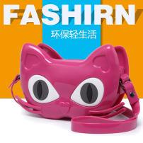 Bag Inclined shoulder bag PVC Kitten bag Nolai Rose Pink Khaki red apricot black brand new Cartoon Mini leisure time soft zipper no Animal design