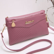 Bag Inclined shoulder bag PU Small square bag TANGYAN brand new Japan and South Korea Small leisure time soft zipper no Geometric pattern Single root One shoulder handle with crossbar Yes middle age Horizontal square Embossing Soft handle polyester fiber 008 soft surface Open your pocket