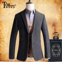 man 's suit Business gentleman dark grey Tomyduff / Tommy Duff routine 175/L TM18C039 Polyester 77% viscose (viscose) 18% polyurethane elastic (spandex) 5% Autumn of 2018 Pure e-commerce (online only)