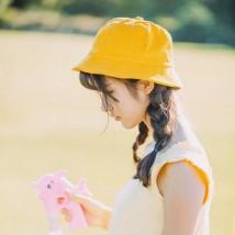 Hat хлопок В желтом желтом желтом желтом желтом желтом М (56-58 см) Басиновая шляпа / шляпа рыбака Весна Лето Осень женщина Детская молодежь купол 15-19 лет 20-24 лет 25-29 лет Широкополый Легкое тело путешествующий Односторонний шапка A023