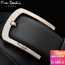 Belt / belt / chain The first layer of leather Pierre Cardin/Pierre Cardin belt male Wild Buckle Single circle alloy JFA82620713AA Young middle-aged