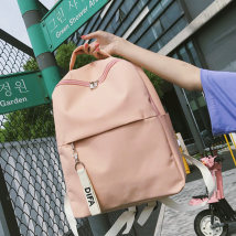Backpack canvas Other / other White yellow red blue black pink brand new in zipper leisure time Double root Japan and South Korea soft youth yes Yes