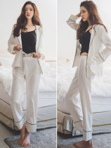 Pajamas / housewear set female Other / other New product discount, red envelope available ml XL XXL Two piece suit (white coat + trousers) three piece suit (white coat + sling + trousers) 7011 7016 7017 7018 7019 7021 6994 6996 6997 6998 6999 7000 7001 7002 7005 7006 7007 7008 7009 7010 cotton sexy