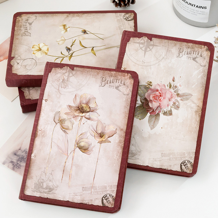 Notebook / Notepad Ah Fu's family Thread binding Others Camellia rose lotus Lavender two thousand two hundred and forty-five Simple and natural Japan and Korea General notebook Hard copy Single book A5 Hand account writing Student white collar Others More than 100 pages Daolin paper