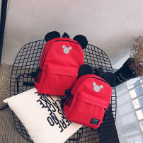 Backpack Nylon  Other / other Black black rose red yellow red wine red blue black light yellow rose red brand new in zipper leisure time Double root Cartoon soft children no Soft handle Cartoon animation nothing female No waterproof Vertical square Zipper pocket mobile phone bag polyester fiber yes