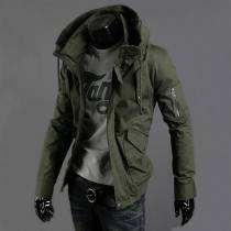 Jacket Other / other Youth fashion Army green (plush thickening) black (plush thickening) army green black routine Self cultivation Travel? autumn 2017