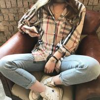 shirt Beige (free freight insurance) Spring of 2018 cotton 71% (inclusive) - 80% (inclusive) Long sleeves commute Single row multi button routine 00688