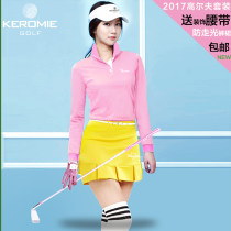 Golf apparel S M L XL White 2506 Pants Skirt Set Powder T Yellow Skirt Set Powder T White Skirt Set White T Powder Skirt White Pink Watermelon Red Lemon Yellow Female KEROMIE other two thousand five hundred and four