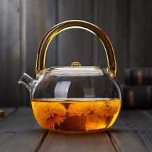 teapot Heat resistant glass other Heat resistant glass yes Self made pictures Violet blue orange yellow red green Li Qianjia 701ml (including) - 800ml (including) Japanese  Idyllic 1kg