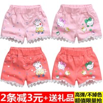 trousers Other / other female summer shorts Versatile No model Casual pants Leather belt middle-waisted polyester cotton Don't open the crotch Class A