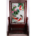 Suzhou embroidery Modern Chinese style Double sided embroidery Art decoration Tenglong embroidery Village five thousand one hundred and twelve