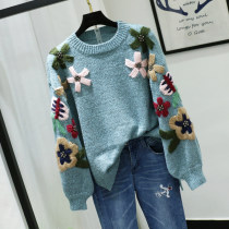 Wool knitwear Winter 2017 Average size Coffee pink light card grey blue Long sleeves singleton  Socket other 51% (inclusive) - 70% (inclusive) Regular thickening commute easy Half height crew neck bishop sleeve other Socket Korean version A1318 18-24 years old