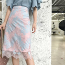 skirt Summer of 2018 S M L Picture color Mid length dress Sweet High waist A-line skirt Decor Type A 25-29 years old 81% (inclusive) - 90% (inclusive) U.VN