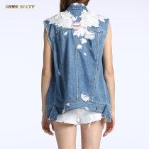 Vest Summer 2017 Denim F25 XSSML 672WJ4370000 Miss sixty Cotton 100% Same model in shopping mall (sold online and offline)