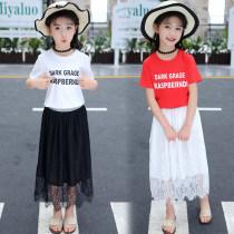 skirt White T + black skirt red T + white skirt black skirt (single piece) white skirt (single piece) 120 is suitable for 110cm, 130 is suitable for 120cm, 140 is suitable for 130cm, 150 is suitable for 140cm, 160 is suitable for 150cm, 170 is suitable for 160cm Other / other female summer skirt xdz1