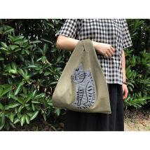 Bag Inclined shoulder bag cotton other Other / other Stupid cat brand new Animal design One shoulder portable messenger