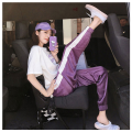 Casual suit Summer of 2018 SMLXLXXL White top + purple pants two-piece blue top + silver gray pants two-piece XKH-8878 Sikohan cotton 100% other Pure electricity supplier (only online sales)