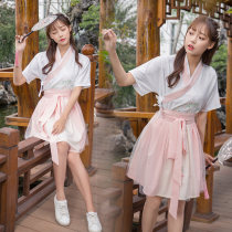 National costume / stage costume Summer of 2018 Top Skirt Top + skirt S M L Other / other 18-25 years old cotton 71% (inclusive) - 80% (inclusive)