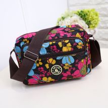 Bag Inclined shoulder bag oxford Small square bag Other / other brand new Japan and South Korea Small leisure time soft zipper yes Geometric pattern