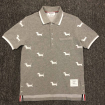 Polo shirt TAYLOR BACK Youth fashion routine grey 165/80A 170/84A 175/88A 180/92A 185/96A 190/100A Self cultivation go to work summer