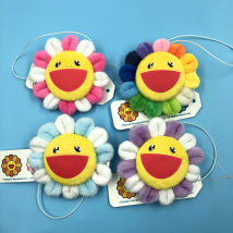 Cartoon watch / Necklace / Jewelry Over 8 years old Sun flower Brooch Sky blue pink violet goods in stock currency Japan other
