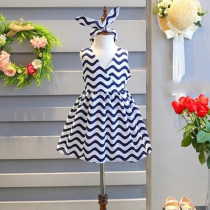 Dress Skirt as shown in the picture Other / other female 7 9 11 13 15 Other 100% summer Korean version Skirt / vest stripe A-line skirt FQZ5111 other
