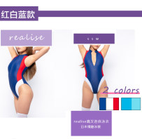 one piece  realise M L LL 3L 4L Yellow army green Navy Triangle one piece swimsuit No steel support, no chest pad Nylon spandex