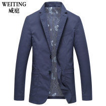 man 's suit Business gentleman blue Weiting routine 175/L WT179552 Polyamide fiber (nylon) 68.8% cotton 27.8% polyurethane elastic fiber (spandex) 3.4% Spring of 2018
