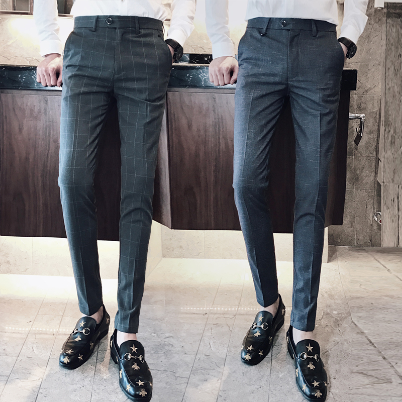 Western-style trousers New to Business gentleman grey Thirty-four NZ180K301 Polyester fiber 70% viscose fiber (viscose fiber) 27% polyurethane elastic fiber (spandex) 3% Autumn of 2018 Pure e-commerce (online only)