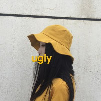 Hat cotton Yellow purple black brown M(56-58cm) peaked cap Spring summer autumn winter female leisure time Youth dome Wide eaves letter Travel