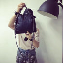 Bag Inclined shoulder bag PU other Other / other 2034 black 2034 gray brand new European and American fashion in other soft zipper no Solid color Yes