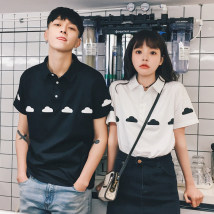 T-shirt White black 2XL s M L XL Summer of 2018 Short sleeve Polo collar easy Regular routine commute cotton 96% and above 18-24 years old Korean version youth Cartoon animation Other / other TXB017131 printing