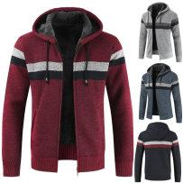 T-shirt / sweater Xiangnian Fashion City Sky blue navy light grey red M L XL 2XL 3XL Cardigan Cap Long sleeves