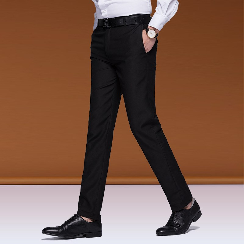 Western-style trousers Others Business gentleman Korean slim fit men's work professional wear black Korean slim fit men's comfortable work trousers navy blue Men's work trousers trousers Straight cylinder summer go to work youth Basic public Solid color 2018 No iron treatment other other