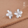 Ear Studs Silver ornaments RMB 25-29.99 Yan Ji [925 silver zircon] one [925 silver zircon] pair brand new Japan and South Korea female goods in stock Fresh out of the oven Silver inlaid gems Plants and flowers 702E0105 925 Silver