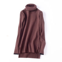 Wool knitwear Autumn of 2018 Average size Green Black Brown Long sleeves singleton  Socket other 30% and below Medium length routine commute Self cultivation High collar Solid color Socket Korean version FG620876 18-24 years old