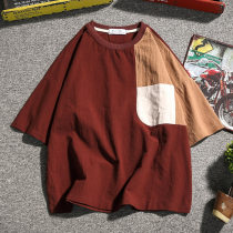 T-shirt Youth fashion Black red thin XXXL XXXXL m 95-110 kg L 115-125 kg XL 130-140 kg 2XL 145-160 kg 3XL 165-180 kg 4XL 185-205 kg 5XL 210-235 kg ml XL 2XL Others Short sleeve Crew neck easy Other leisure summer Large size raglan sleeve Youthful vigor 2018 Geometric pattern printing cotton