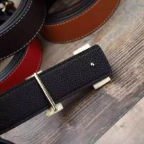 Belt / belt / chain Double skin leather White yellow red blue currency literature youth Glossy surface alloy 110cm 115cm 120cm