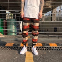Casual pants Youth epidemic T8102 Plaid Trousers HOTNATE Send a set of solid color short sleeves with a set of M L XL conventional No bombs Other leisure Straight trousers two thousand and eighteen tide winter teens Middle waist Feet Woolen Non-iron treatment Harem pants other