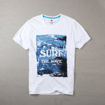 T-shirt Youth fashion The letters are white routine XS S M L XL XXL Others Short sleeve Crew neck standard daily summer 6T017 Cotton 100% youth routine