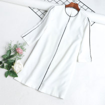 Dress Autumn of 2018 white S M L XL Mid length dress singleton  Long sleeves commute Crew neck routine Korean version 31% (inclusive) - 50% (inclusive) other