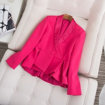 short coat Spring of 2018 S M L Yellow black rose red Other / other