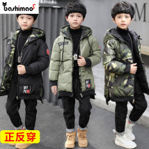Cotton padded jacket Bus cat Green black 110cm120cm130cm140cm150cm160cm No detachable cap other male thickening Zipper shirt Korean version There are models in the real shooting other chemical fiber Class B other Polyester 100% Cotton liner SY-D009 Other 100% Winter 2017 winter