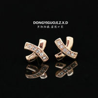 Ear Studs Alloy / silver / gold RMB 20-24.99 Other / other Rose gold silver white brand new Japan and South Korea female goods in stock Fresh out of the oven Alloy inlaid artificial gem / semi gem other H19000127
