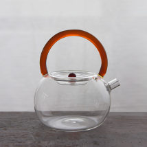 teapot Glass other Heat resistant glass yes Self made pictures White 780ml light brown 780ml Jinglan porcelain Museum 701ml (including) - 800ml (including) Glass beam pot Chinese style like a breath of fresh air Within 3kg