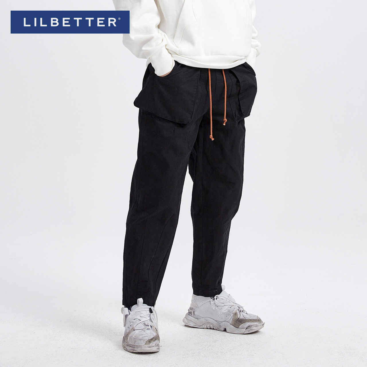 Casual pants Lilbetter Youth fashion black 170/M thick Micro bomb T-9184_ 001101 Cotton 100% Winter of 2018 Pure e-commerce (online only)