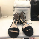 Sandals 34 35 36 37 38 39 Red Silver Black Staccato / scoto Cashmere (cashmere) Barefoot Square heel Middle heel (3-5cm) Summer of 2018 Flat buckle Sweet Solid color Adhesive shoes Youth (18-40 years old) daily Bag heel Low Gang Hollow Pig skin Sheepskin 9US12BL8 Frosting